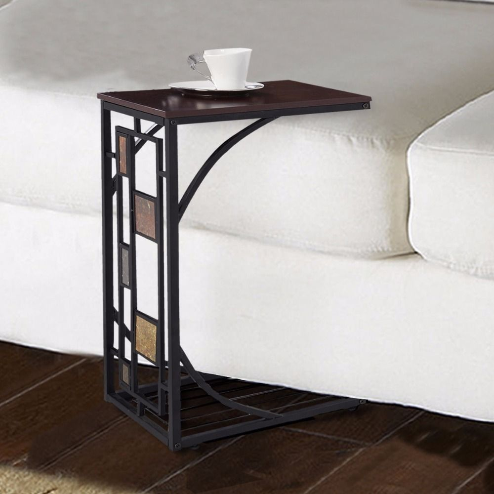 Goplus Coffee Tray Side Sofa Table Ottoman Couch Room Console Stand End TV Lap Snack HW49716