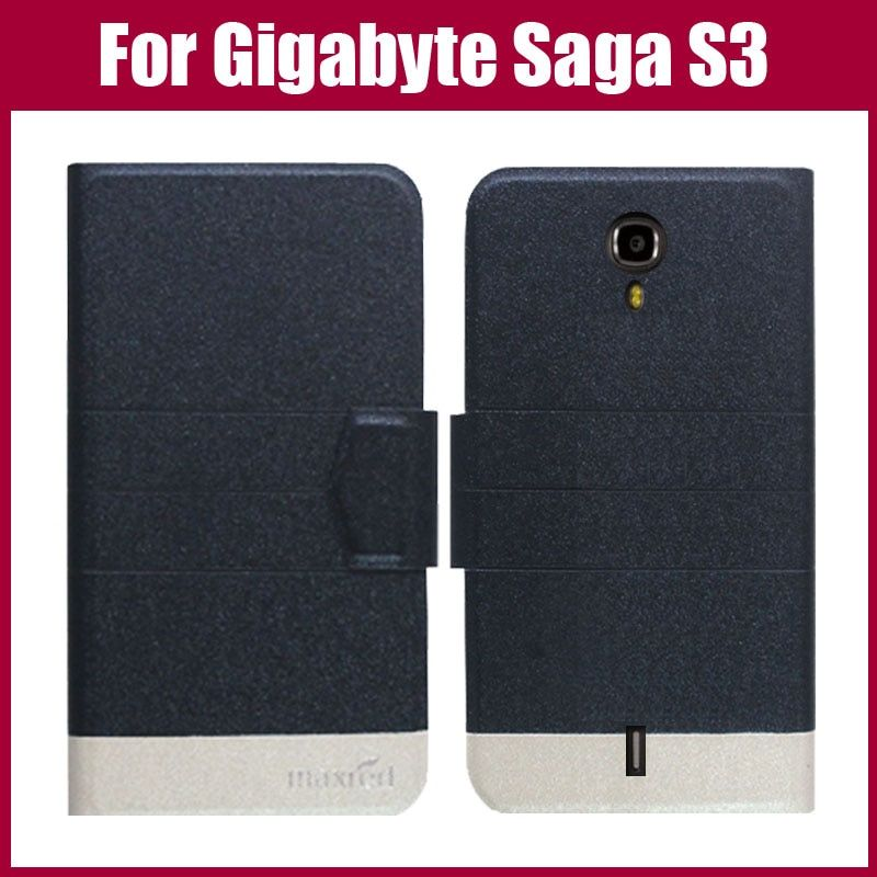 Hot Sale! New Arrival 5 Colors Fashion Flip Ultra-thin Leather Protective Cover For Gigabyte GSmart Saga S3 Case
