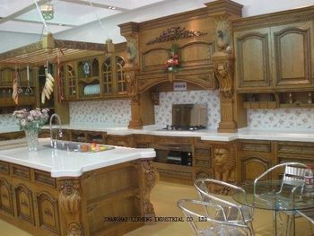 Luxury Solid Wood  kitchen cabinet (LH-SW032)
