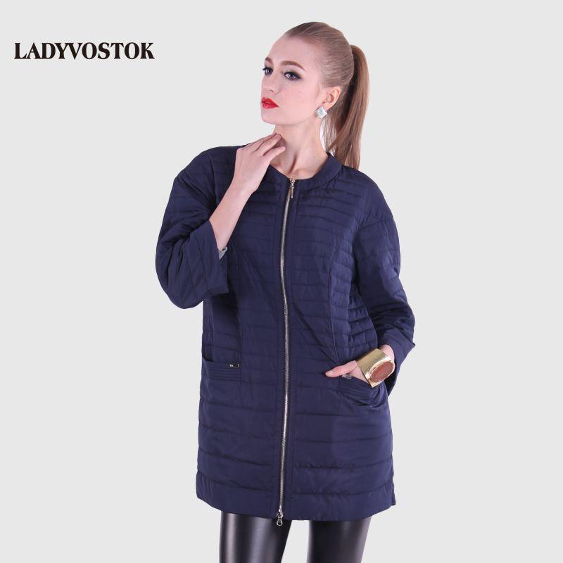 LADYVOSTOK Spring Jacket Women Ultra Light Down Medium-long Plus Size Jacket Female With Large 12-262