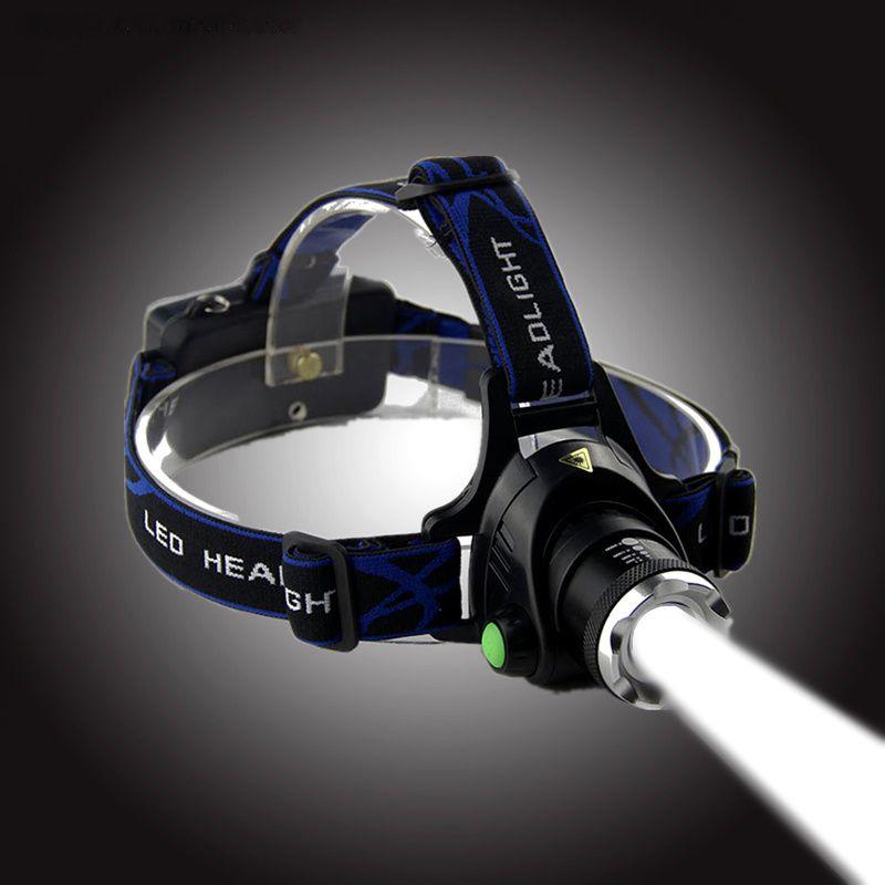 Transcendance CREE XML-T6 zoomable phare LED lampe frontale rechargeable forte lumière lampe de poche LED étanche lumières de pêche