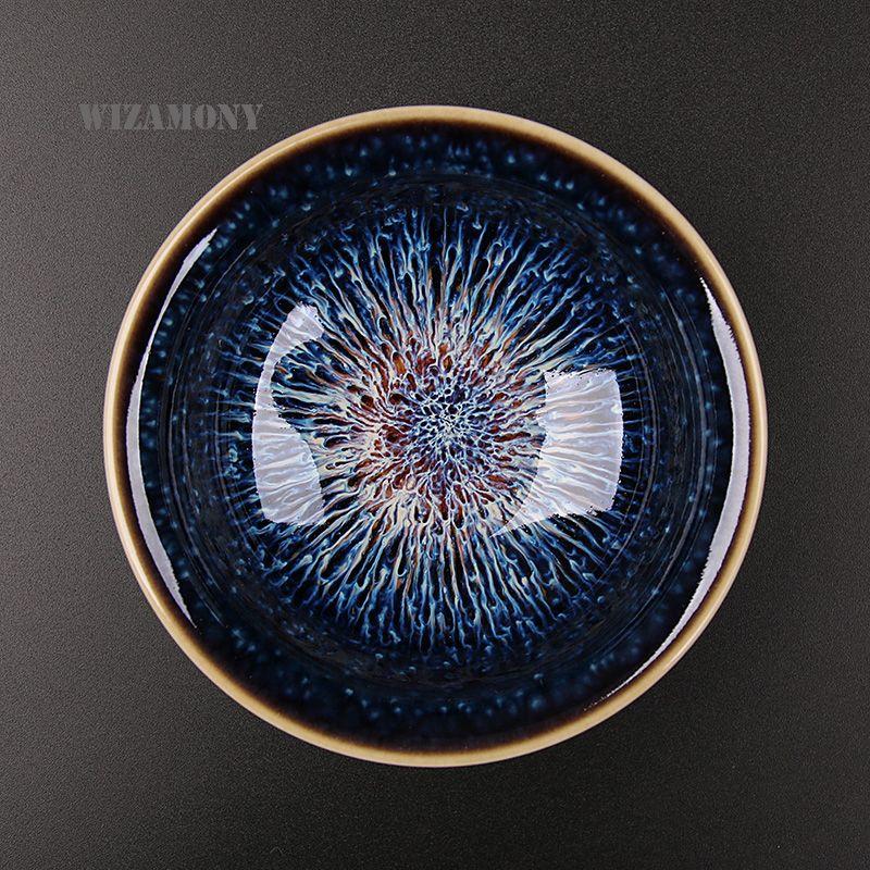 Chaud!!!! WIZAMONY nouveau 1 pièces jingdezhen ciel yeux thé rouge glaçure porcelaine chinoise traditionnelle compétence douce thé thé Set bol