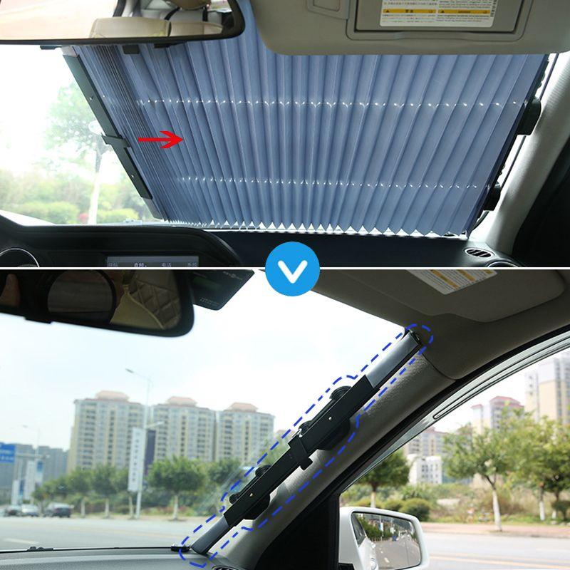 46 CM/65 CM/70 CM/80 CM Retractbale SUV camion voiture avant pare-brise pare-soleil fenêtre arrière pare-soleil rideau de Protection UV pour toyota