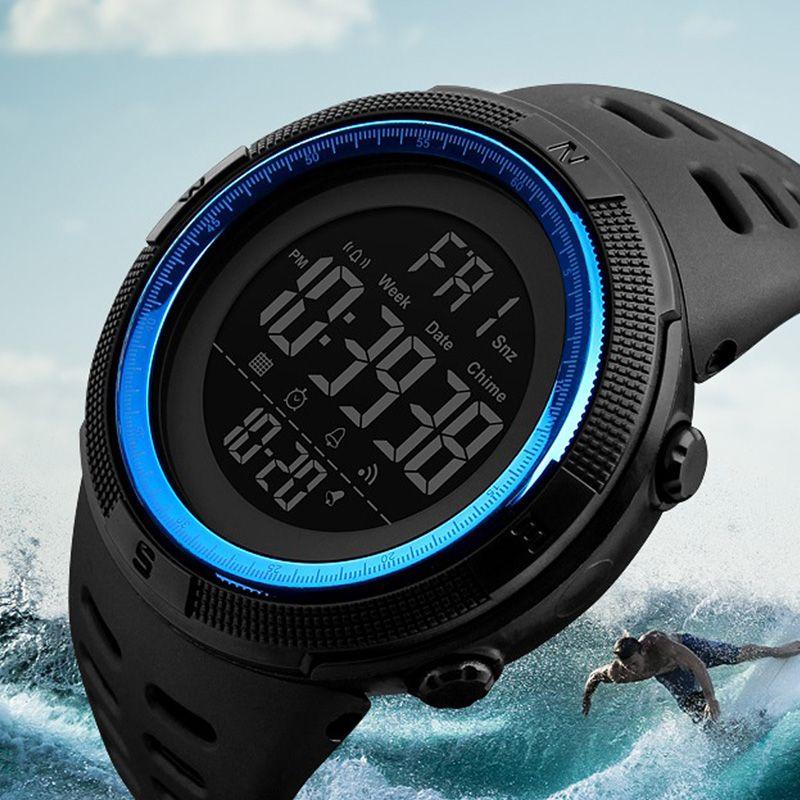 Skmei Luxury Brand Mens Sports Watches Dive 50m Digital LED <font><b>Military</b></font> Watch Men Fashion Casual Electronics Wristwatches Relojes