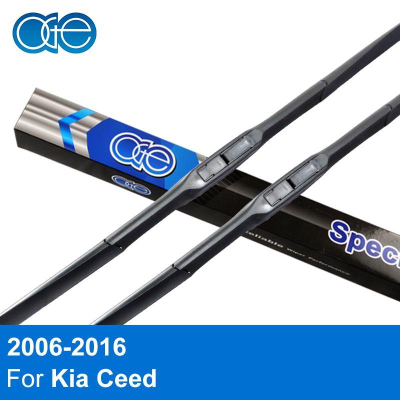 Oge Wiper Blades For Kia Ceed 2006 2007 2008 2009 2010 2011 <font><b>2012</b></font> 2013 2014 2015 High Quality Rubber Windscreen Car Accessories