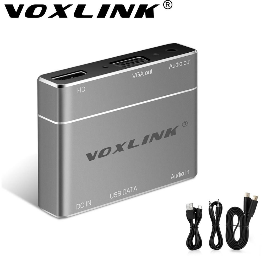 VOXLINK Mini 1080P USB to HDMI/VGAConverter Lightning to HDMI Adapter With Audio Airplay DLAN Ezcast Support iOS Windows Android