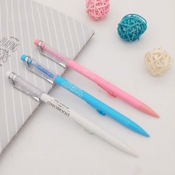 Kawaii Diamond Mechanical Pencil Cute Plastic Colored Automatic Pencils For Kids Gift korean stationery School Supply Stationery