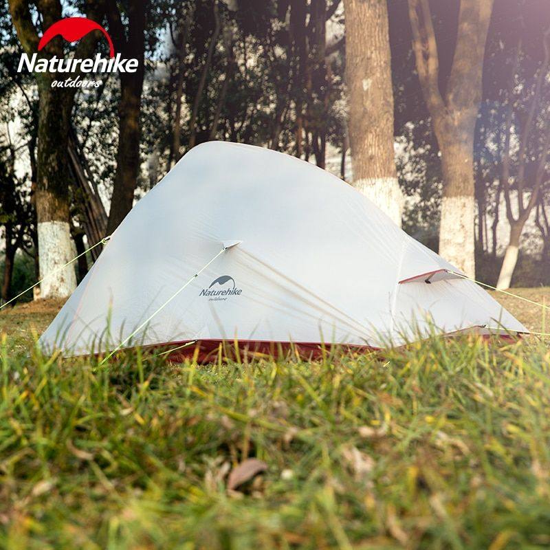Naturehike 2 Person Ultralight Camping Hiking Tent Cloud UP 2 New Updated Free Self Standing 20D Silicone 4 Season Waterproof
