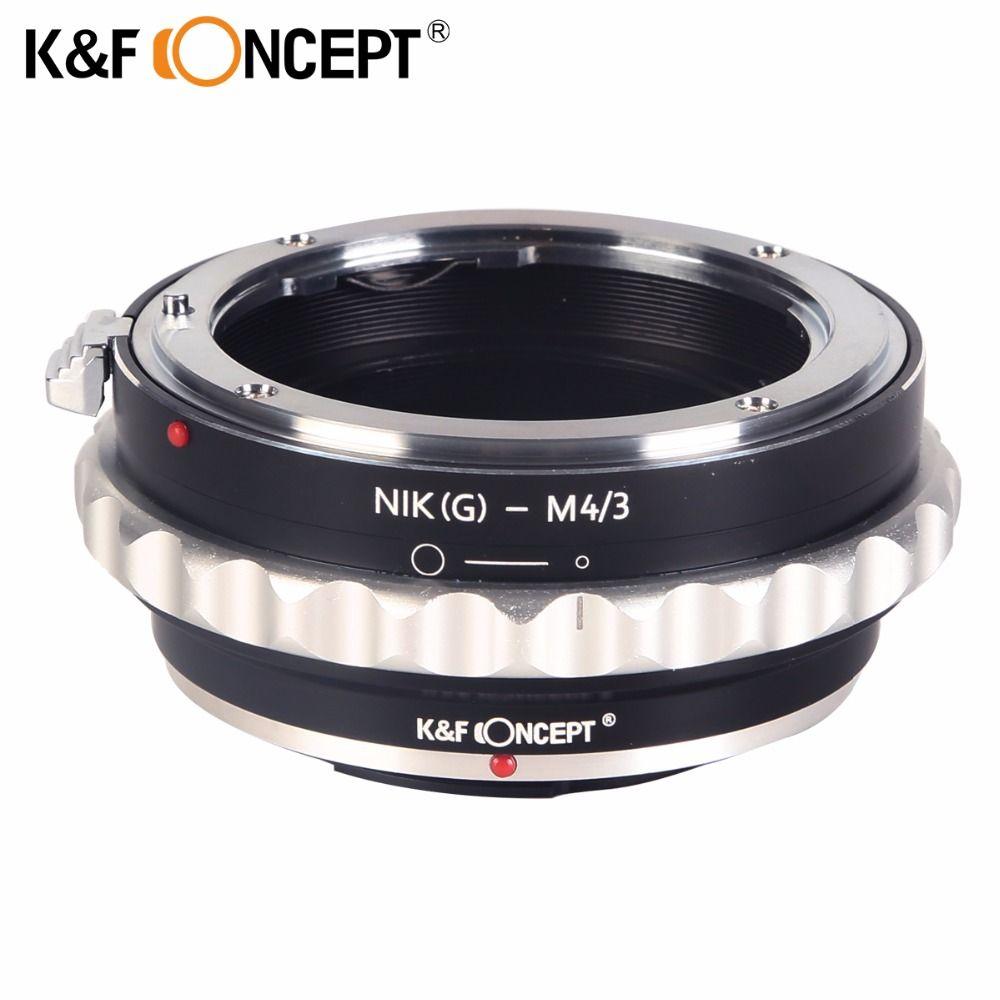 Adaptateur de montage d'objectif K & F CONCEPT pour objectif Nikon G AF-S F vers adaptateur de montage Micro 4/3 M4/3 GF2 GF3 G2 G3 GH2 E-PL3 PM1