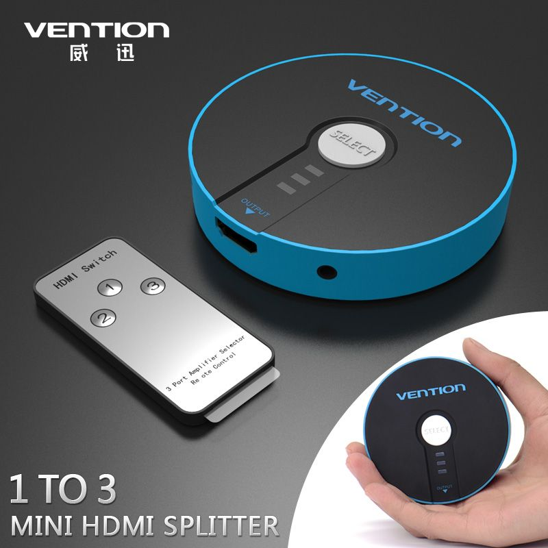 VENTION 3 in 1 out HDMI Switch Switcher HDMI Splitter HDMI Port for PS3 PS4 Xbox 360 PC DV DVD HDTV 1080P 3 Input to 1 Output