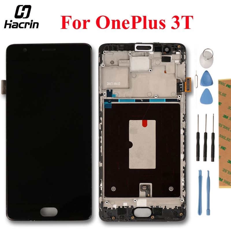 For OnePlus 3T LCD Display Touch Screen Digitizer Assembly For 5.5