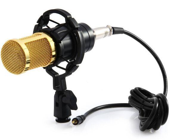 Professional MIC Studio Microphone Condenser Sound Recording Microphone BM - 800 with Shock Mount for Radio Kit KTV