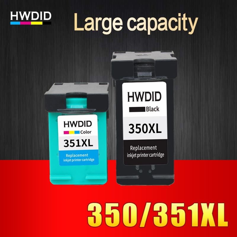 HWDID 350XL 351XL Refilled ink cartridge Replacement for HP 350 351 xl for HP D4200 D4260 D4263 D4360 J5730 5780 5785 C4380 4480
