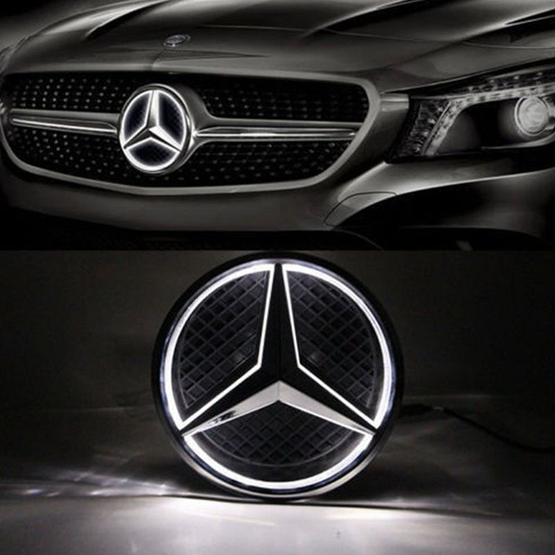 SITAILE Illuminated Car LED Light Front Grille Star Logo Emblem Badge for Mercedes Benz Car-styling size 18cm/7.09inch