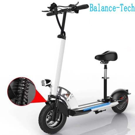 Foldable Electric Scooter 48V Electric Skateboard Handle Adjustable with LED E-scooter 45km/h Shock Absorbtion Scooter for Adult