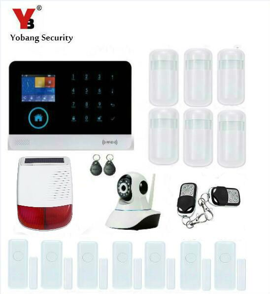 Yobang Security-APP Control Anti-theft WIFI Alarm System GSM Alarma Wireless Network Camera Monitoring Outdoor Solar Siren Alarm