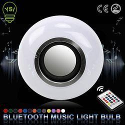 E27 Inteligente Sem Fio Bluetooth Speaker Música Jogando Música RGB LEVOU Bulbo Regulável Coloridos 12 W Lâmpada LED Lampada Para Férias luz