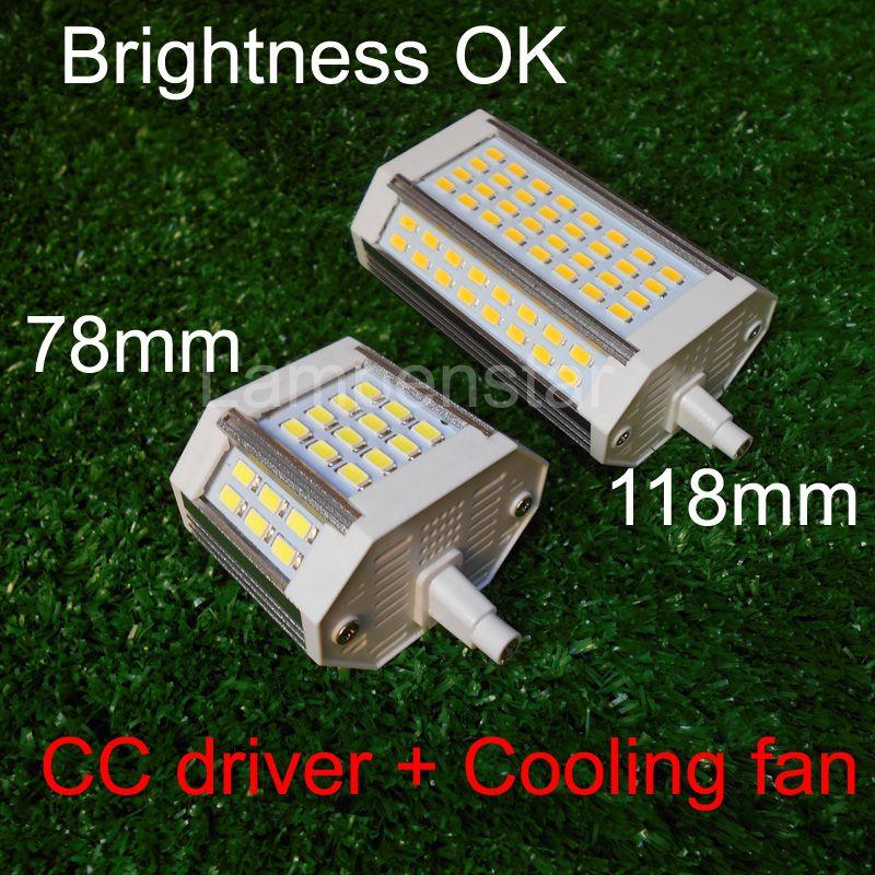 J118 j78 r7s led led 10 W 15 W 18 W 20 W 25 W 30 W led lampada con ventiladores sustituir halógenas lámpara AC110-240V