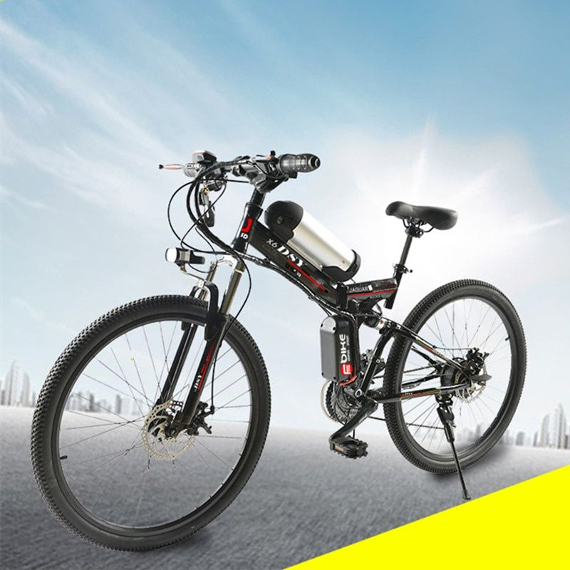 350W powerful electric 36V 10.8ah Lithium Battery E bicycle 26*1.95 foldable Electric bicycle new Unisex folding Cycling ebike