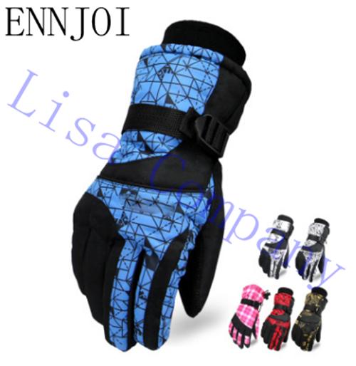 ENNJOI Hot Sale Full Finger Gloves Windproof Outdoor Sports Men Or Women Winter Warm Hiking Riding Skiing Snowboard Gloves