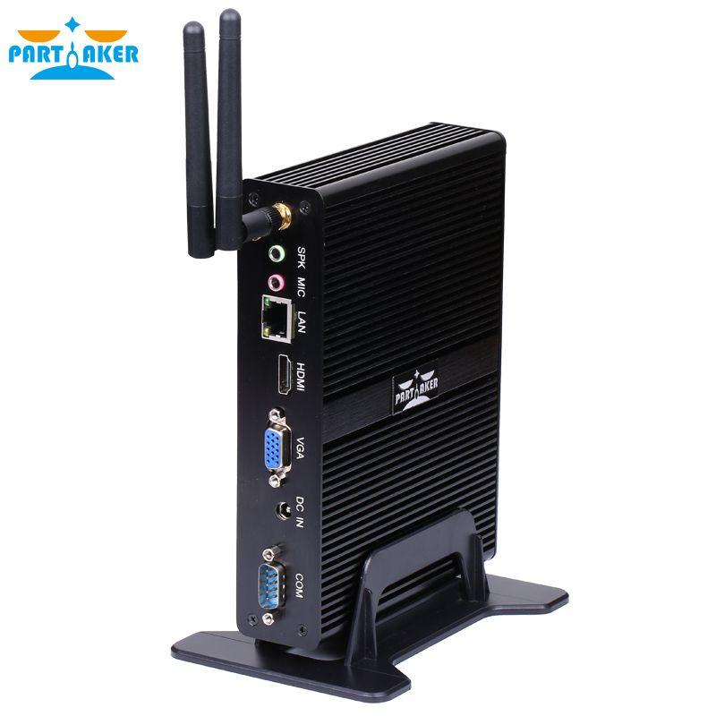 Participant Sans Ventilateur Mini PC Quad Core J1900 Avec 2 COM Ports 3 Ans de Garantie Livraison Gratuite DHL