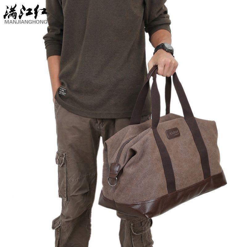 Casual vintage men messenger bag fashion canvas solid unisex large capacity travel tote cross-body classic handbag