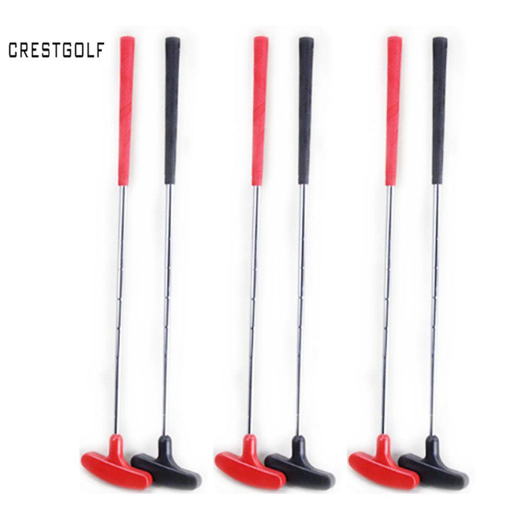 10 pièces qualité garantie personnaliser taille Mini Golf Clubes de Golf Putter Golf Clubs avec arbre en acier et tête en caoutchouc et poignée