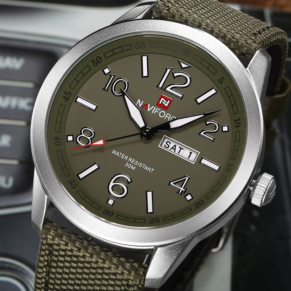 NAVIFORCE Sports Men Watch Army Military Mens Wristwatch Week Display Fashion Casual Camping Male Clock Saat Relogio Masculino