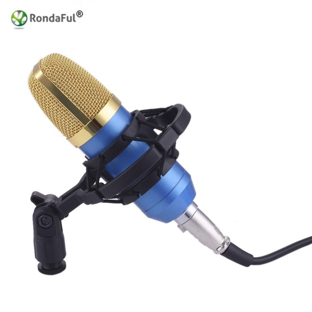 Professionnel BM700 KTV Microphone À Condensateur de Studio Cardioïde Pro Audio Studio Vocal Enregistrement Mic KTV Karaoké + Métal Shock Mount