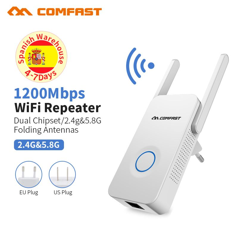 Access Point Wifi Router 1200bps Wireless 11 AC Gigabit Router Repeater Dual Band 2.4G&5.8G hz AC Router WiFi Roteador