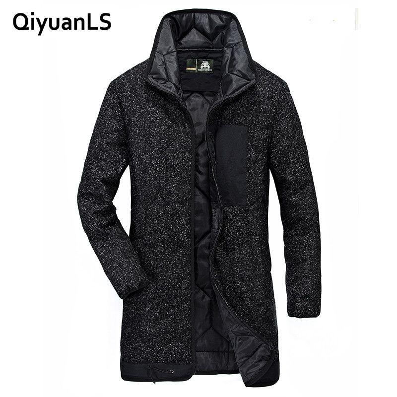 QiyuanLS marke mens kleidung Winter Jacke Parkas casual männer jacken Parkas mäntel Military Jacke Warme Lange jacke Mantel Männer