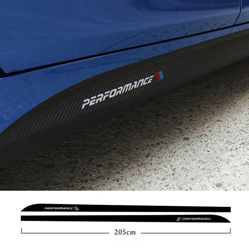 For BMW E90 E92 E93 F20 F21 F30 F31 F32 F33 F34 F15 F10 F01 F11 F02 G30 M Performance Side Skirt Sill Stripe Body Decals Sticker