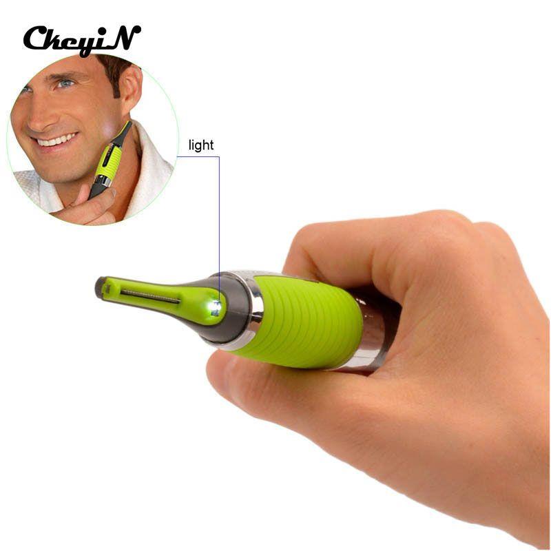 Micro точность ухо бровей нос триммер Многофункциональный Личная Электрический встроенный светодиодный свет Уход за лицом волосы тример RCS128 ...