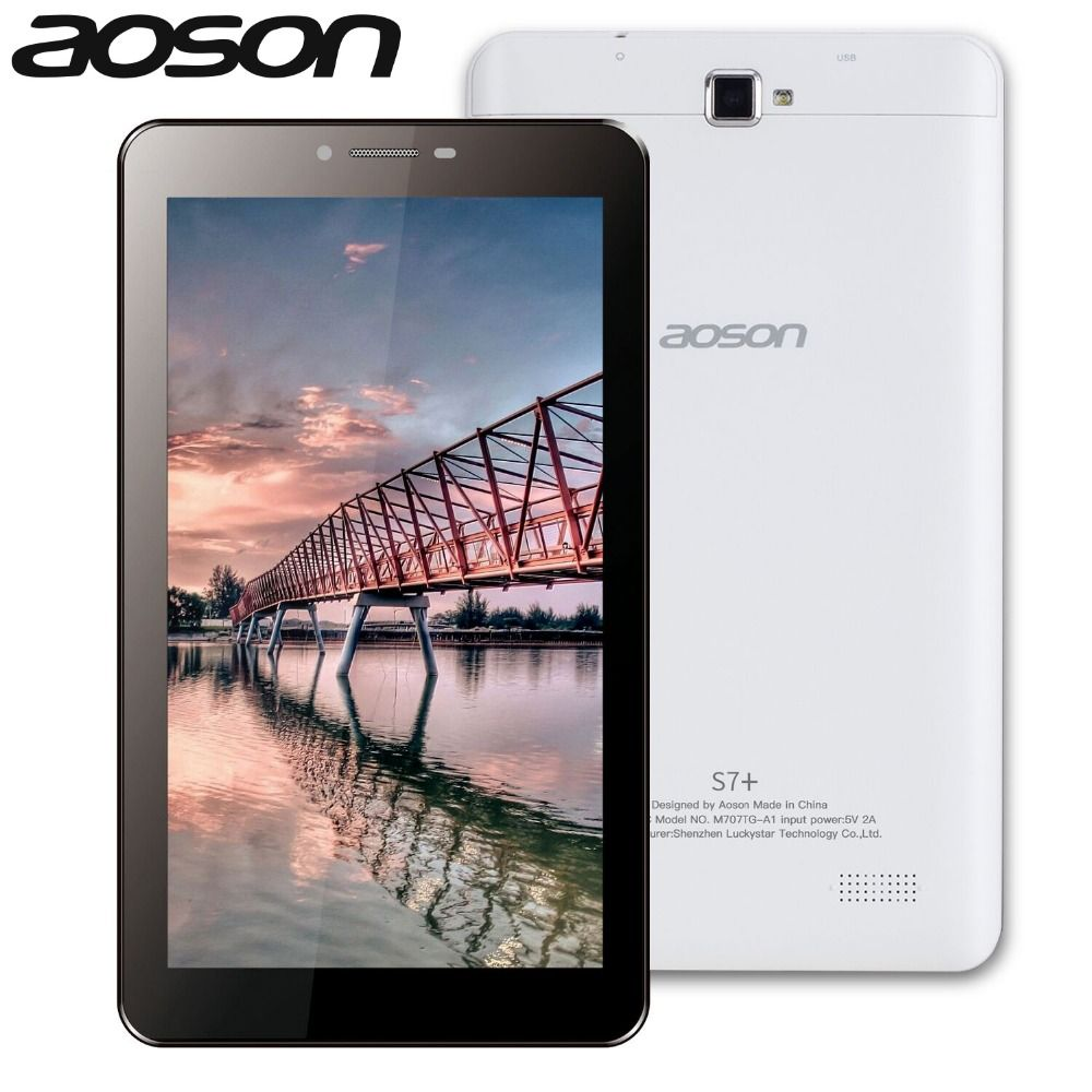 Tablettes Aoson S7 + 7 pouces 3G téléphone appel tablette PC Android 7.0 16 GB ROM + 1G RAM Quad Core Dual Camare GPS WiFi Bluetooth tablettes