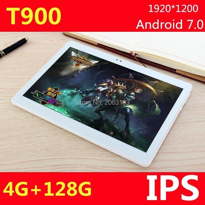 10,1 zoll 3G 4G LTE tablet PC Android 7.0 anruf octa-core RAM 4 GB ROM 128 GB 1920*1200 IPS Bluetooth tabletten Pc