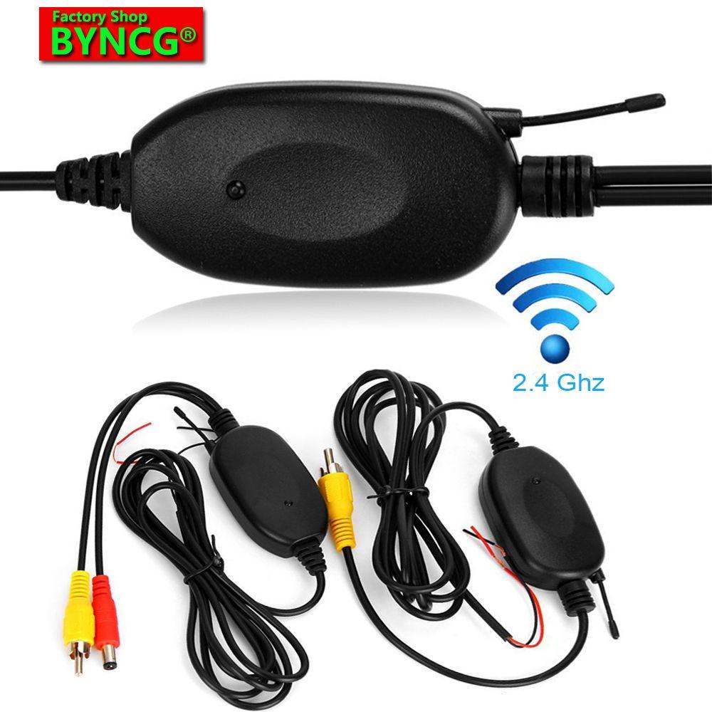 Caméra de véhicule BYNCG W0 2.4 GHZ récepteur émetteur sans fil RCA pour caméra de recul arrière moniteur DC12V caméra de recul