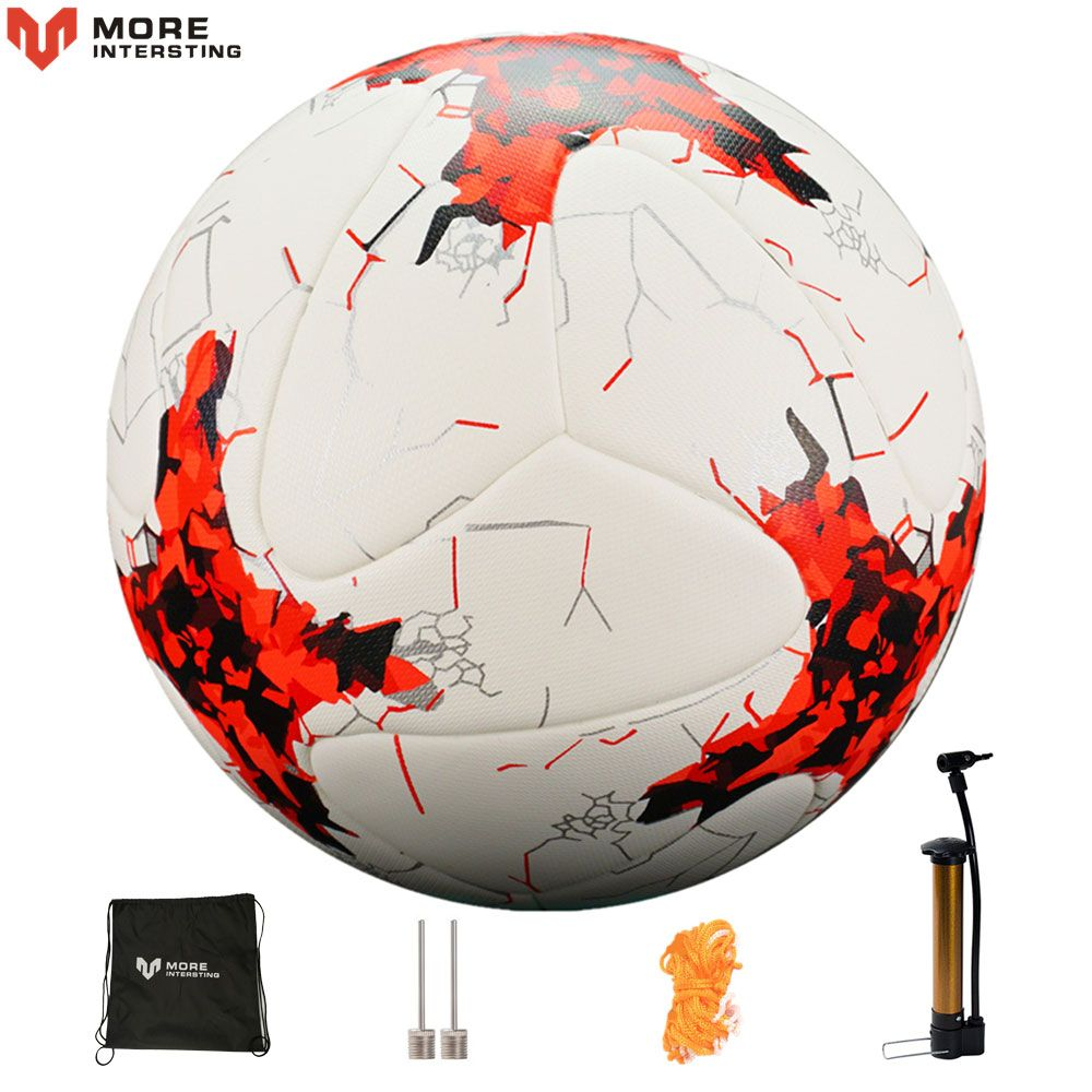 Russia Size 4 Size 5 Football Premier Seamless Soccer Ball Goal Team Match <font><b>Training</b></font> Balls League futbol bola with Pump Gift