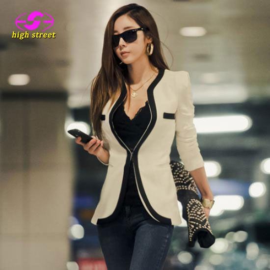 Blazer Women Patchwork Jackets Women Blazer Female Top Fashion Time-limited Blaser Suit Jacket 2018 Autumn Design Casual Spring
