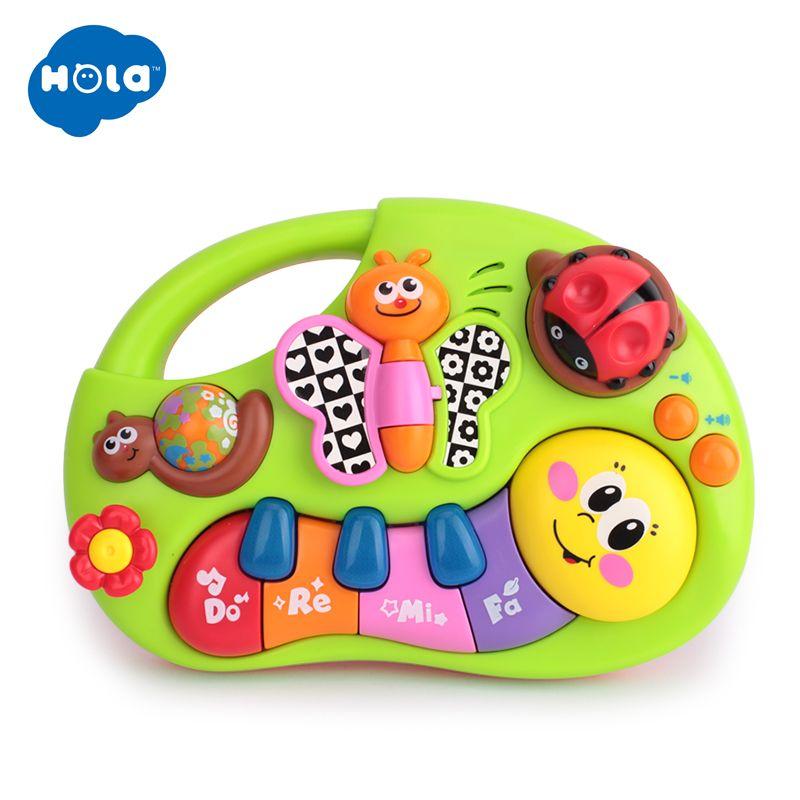 HOLA 927 jouets pour bébé jouet d'apprentissage avec lumières et musique et histoires d'apprentissage jouet Instrument de musique pour tout-petit 6 mois +