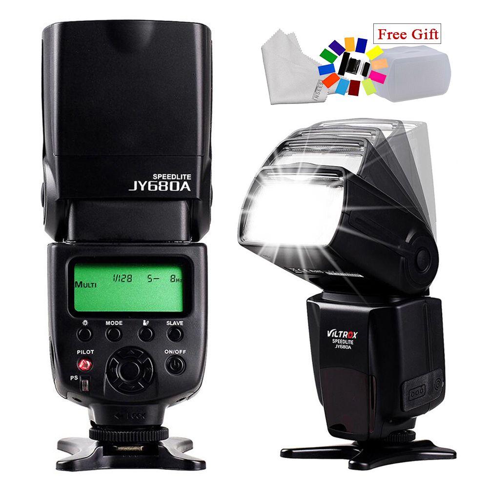 Universele VILTROX JY-680A LCD Screen Flash Speedlite For Canon Nikon Pentax Sony A58 A6000 A3000 A7s A7 A6300 A7r A7r II DSLR