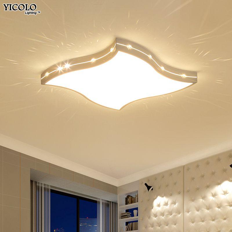 New Dimming Ceiling Lights For Living Study Room Bedroom Home Dec plafonnier AC85-265V Modern Led Ceiling Lamp Home Decor