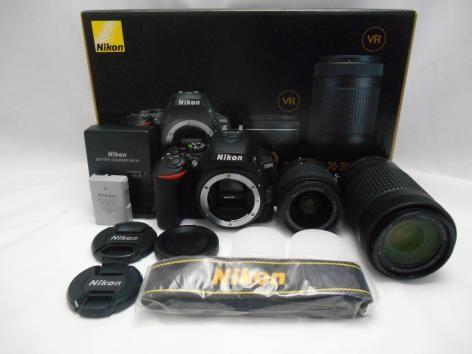 Nikon D5600 DSLR Kamera Körper & AF-P 18-55mm und AF 70-300mm Objektiv Kit
