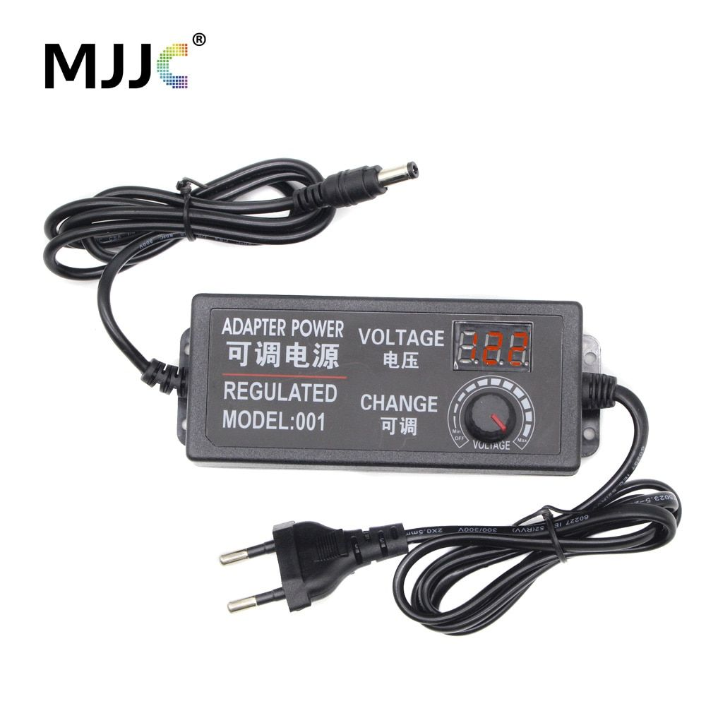 Transformer Power Supply AC 110V 220V to DC 12V 3V 5V 24V Adjustable Regulated Adapter with Display 3A LED Driver for LED Strip