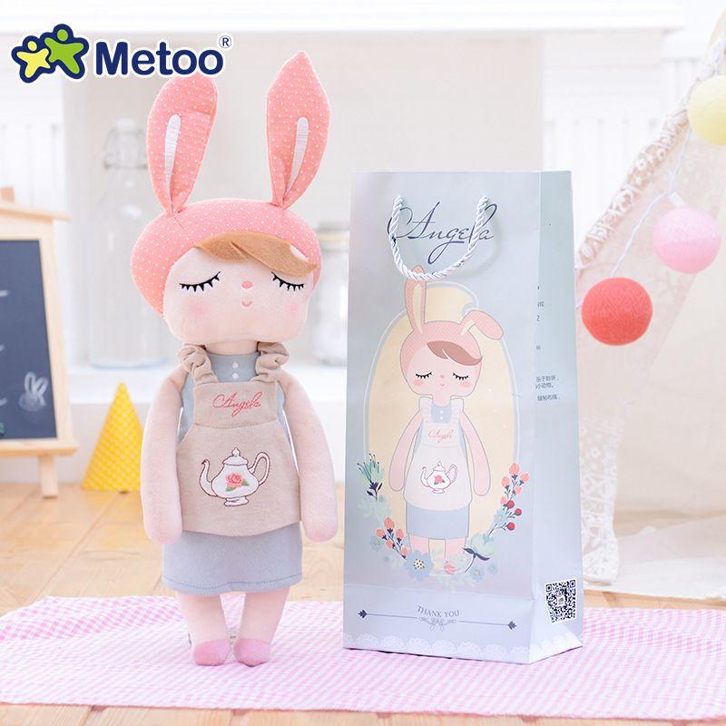 13 Inch Accompany Sleep Retro <font><b>Angela</b></font> Rabbit Plush Stuffed Animal Kids Toys for Girls Children Birthday Christmas Gift Metoo Doll