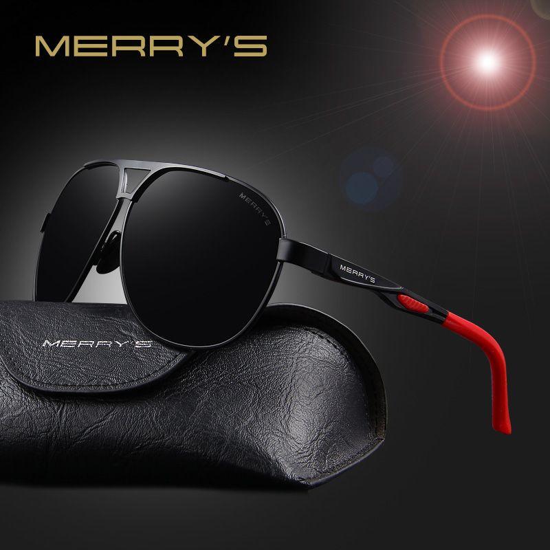 MERRY'S 2017 Nouvelle Qualité Marque Designer Cool Polarisées Hommes de lunettes de Soleil UV400 Protéger Lunettes de Soleil Pour Hommes Avec la Boîte S'8611