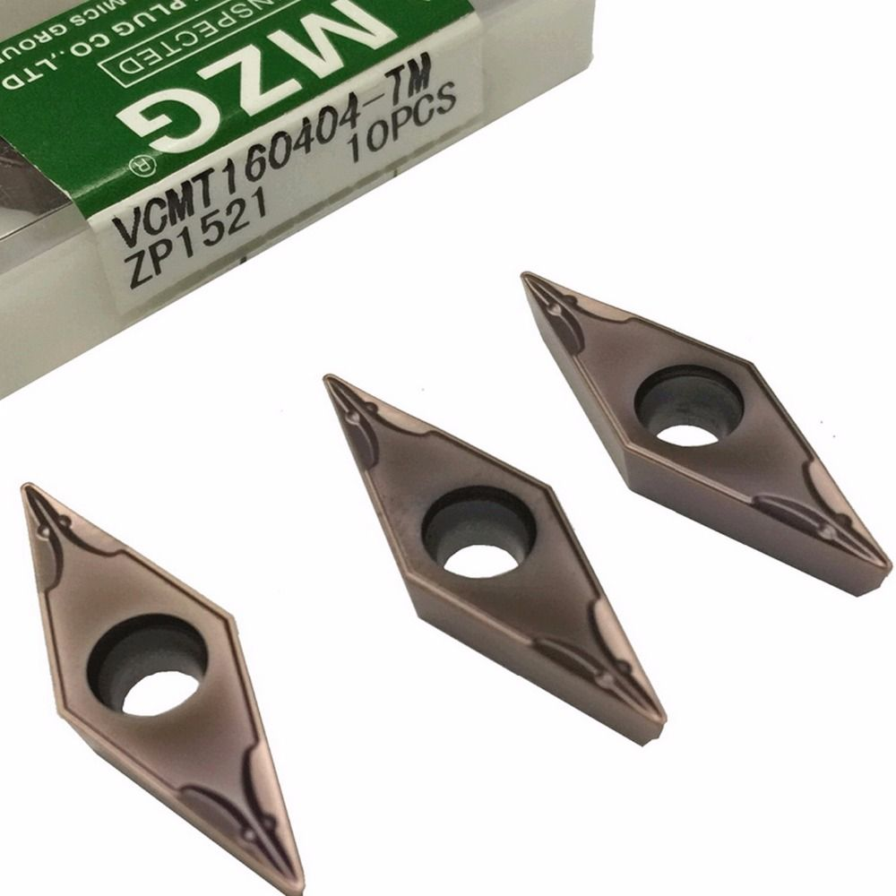 MZG VCMT160404 TM ZP1521 Solid Indexable Carbide Inserts for Turning Boring Cutting Tools Stainless Steel Processing Toolholder