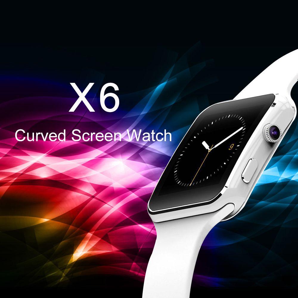 LEMFO X6 Smartwatch Support SIM TF card Camera Bluetooth Pedometer Sleep Monitoring Wrist Watch Fashion Smart Watch Phone