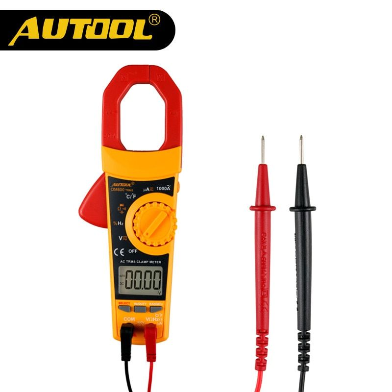 AUTOOL DM600 Clamp Meter Multimeter True RMS Auto Short Circuit Tester Car Diagnostic Clamp Multimeters Digital LCD AC DC 1000A