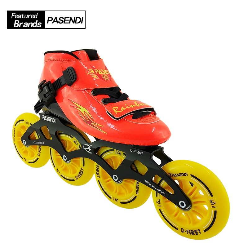 Professional Speed Skating Shoes Adults Kids Beginner Inline Skate 2018 NEW PASENDI Roller Skates Boots 4 wheels Patines