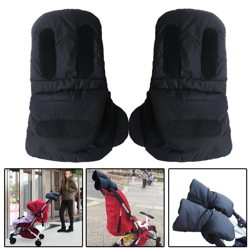 Baby Stroller Warmer Gloves Pushchair Hand Muff Pram Mittens for Stroller Buggy Cart Hand Clutch Glove Wheelchair Accessory